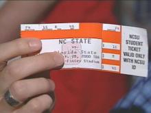 Tickets for Saturday's N.C. State-Florida State football game are hard to come by.(WRAL-TV5 News)