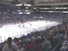 """Fayetteville's minor league hockey team is not much of a drawing """"Force."""" The team is averaging 3,500 fans per game.(WRAL-TV5 News)"""