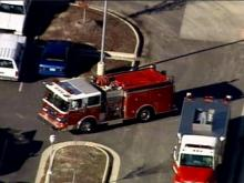 Firefighters say a fire in a bathroom at Fuquay-Varina High School was deliberately set.(WRAL-TV5 News)