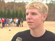 Apex senior goalie David Bankert played a huge role in the Cougars' run in the state's 4-A championship soccer game.(WRAL-TV5 News)