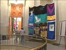 Come to the State Capitol this week to see 72 squares of the AIDS Memorial Quilt.(WRAL-TV5 News)