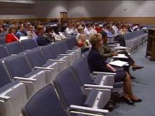 The Stough Elementary calendar switch prompted a public hearing on elementary school reassignments, giving parents a chance to weigh in on where their children will be attending school in the fall.(WRAL-TV5 News)