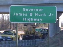 U.S. Highway 264 was renamed for Gov. Hunt.(WRAL-TV5 News)