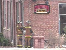 A Wednesday morning fire damaged the Southend Brewery in Raleigh,(WRAL-TV5 News)