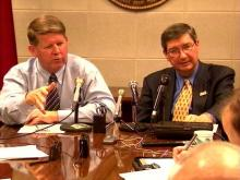 Sen. Marc Basnight (left) and Rep. Jim Black (right) previewed the upcoming legislative session.(WRAL-TV5 News)