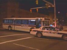 A woman was injured when someone fired several shots into a DATA bus in downtown Durham Wednesday night.(WRAL-TV5 News)