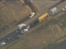 School Bus Involved In Multi-Vehicle Accident