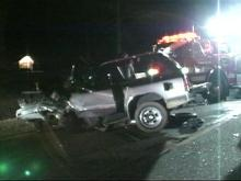 Chester Jones was driving this SUV. He is in serious condition.(WRAL-TV5 News)
