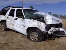 The Bravada SUV shows the force of the impact.(WRAL-TV5 News)