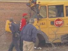 Durham School Bus Hits Utility Pole; 21 Students Taken To Hospital