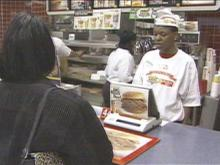 Hardee's celebrated its 40th birthday Thursday in Rocky Mount by selling food at 1961 prices.(WRAL-TV5 News)