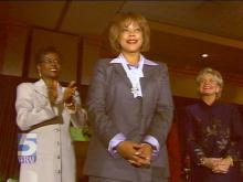 WRAL's Pam Saulsby was honored as a distinguished North Carolina Woman by the N.C. Council for Women.(WRAL-TV5 News)