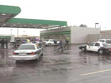 Two state troopers were assaulted by a motorist Tuesday morning at a BP gas station in Durham.(WRAL-TV5 News)