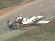 Plane Lands On Parkway Near RDU
