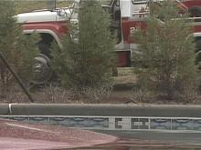 Driver Loses Control Of Truck, Crashes Into Pool