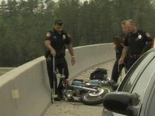 Motorcyclist Injured In Fall From Bridge During Wreck