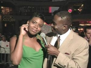 Fantasia Barrino and WRAL's Ken Smith.