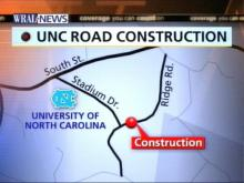 Ridge Road On UNC Campus Closes For Utility Work