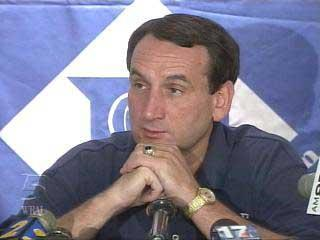 Duke coach Mike Krzyzewski, as shown last season.