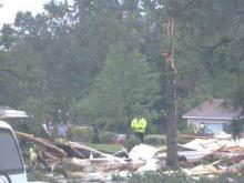 Harnett Community Assessing Tornado Damage 