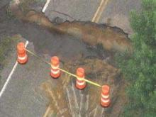 Rain Washes Out Harnett County Road