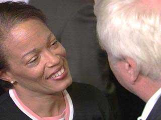 Marcia Conner stepped down as Durham's city manager on Jan. 14, 2005.