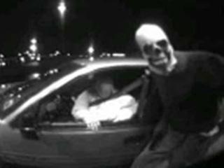 skeleton masked atm robber