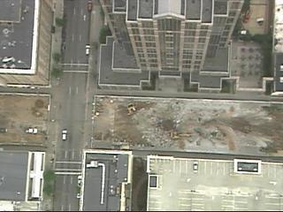 Fayetteville Street Mall Aerial