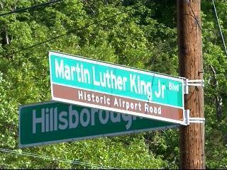 Chapel Hill MLK Street Sign