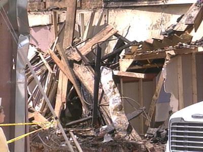 Debris from Kaleel Grill