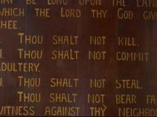 Nash County Courthouse Ten Commandments