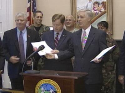 Easley Military Bill Signing