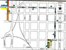 2005 Raleigh Christmas Parade Route