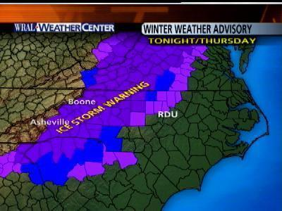 Ice Possible For Parts Of Triangle Thursday