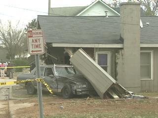 car into house raleigh