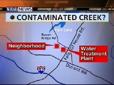 City Investigating White Sludge In Raleigh Creek