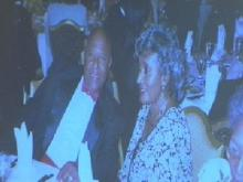 Shirley Newkirk, with her husband in an undated photo, was shot to death outside her home April 28, 2005.