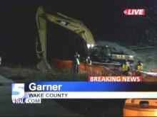 A state Department of Transportation official says it will be Monday morning before a six-mile stretch of Interstate 40 near Garner that has been closed since Friday reopens.