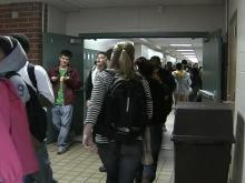 High school hallway generic