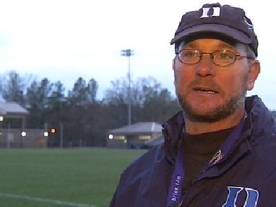 Former Duke University men's lacrosse Coach Mike Pressler. Pressler resigned shortly after allegations that three of his players raped an exotic dancer at an off-campus party in March.