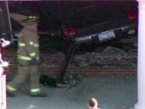 Car Crashes Into Raleigh Alltel Store