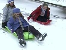 Storm Proves Fun for Kids, Safe for Most on Roads
