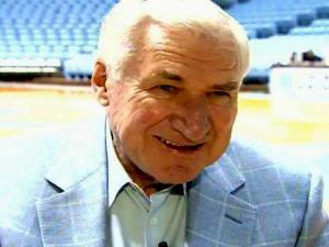 Former UNC basketball coach Dean Smith