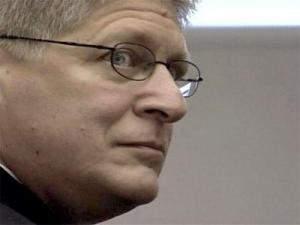 Durham County District Attorney Mike Nifong on Jan. 24 during a State Bar hearing on an ethics complaint against him.