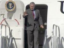 President Bush Arrives at RDU (unedited)