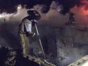 Six houses were gutted by a Hoke County brush fire near Raeford.