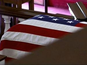 Military funeral generic / flag-draped casket