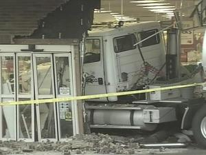 There was no one in the store at the time of the accident. There are no reports of any injuries.