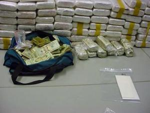Durham police arrested three men on Friday, April 13, 2007, and seized what they said was 94 kilograms of cocaine, along with marijuana and cash.