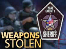 Wake Sheriff Weapons Stolen